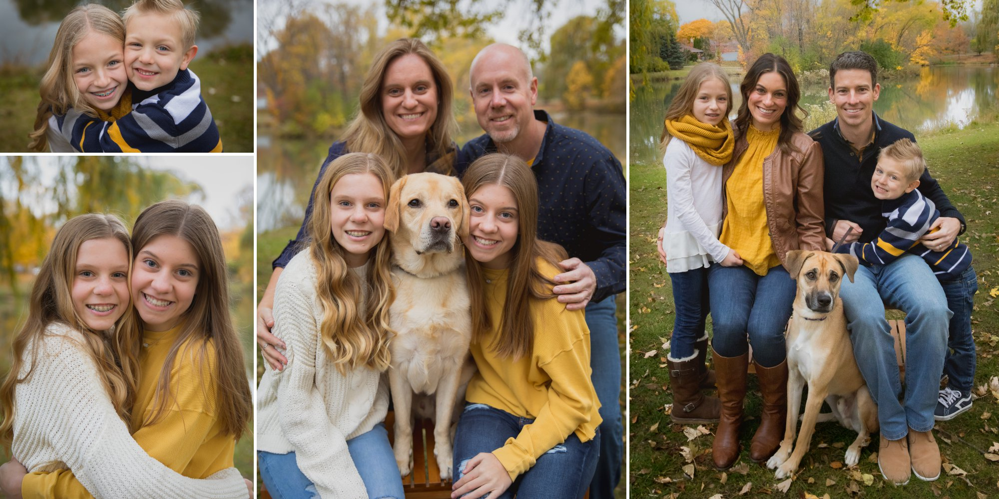 Extended Family Pictures with dogs